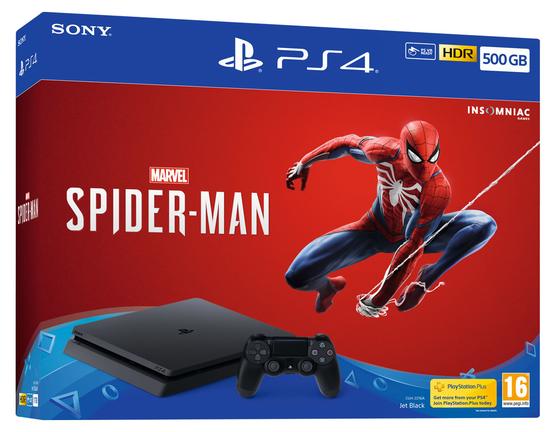 Игровая приставка Sony PlayStation 4 Slim 500 ГБ (CUH-2216А) + игра Marvel Spider-Man