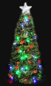 Ель-конус хвойная, с разноцветными светодиодами (62 см)