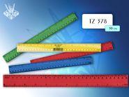 Линейка пластиковая цветная 30 см, с двойной шкалой, в упаковке (арт. tz 378)