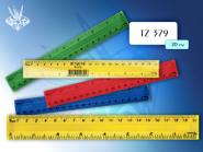 Линейка пластиковая цветная 20 см, с двойной шкалой, в упаковке (арт. tz 379)