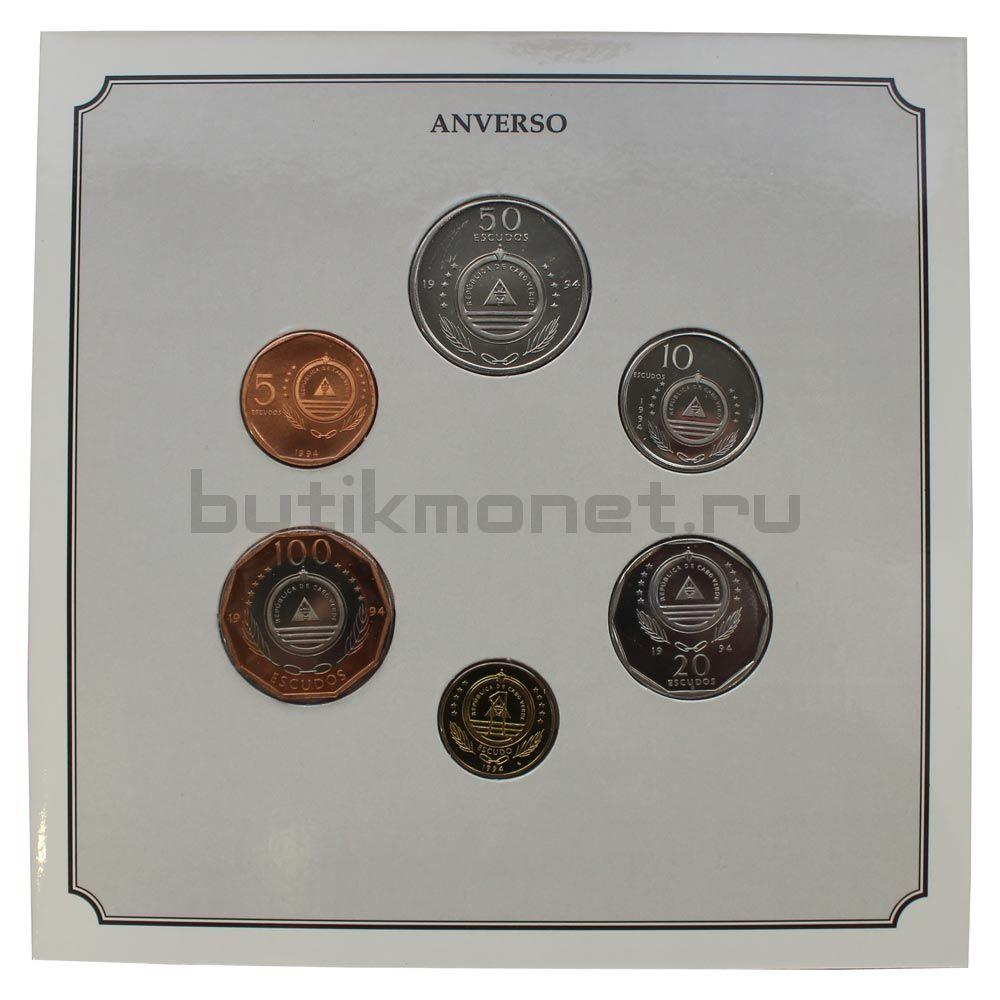 Набор монет 1994 Кабо-Верде Корабли (6 штук)