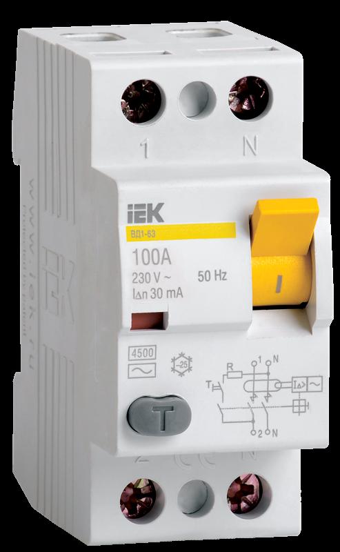 Устройство защитного выключения IEK MDV10-2-025-030