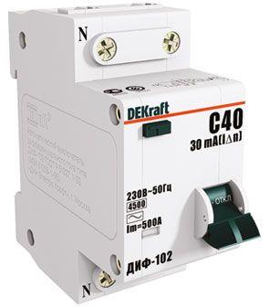 Schneider Electric DEKraft авт. выкл. диф. тока ДИФ-102 1P+N 32А/30мА элек. УЗО тип AC 4,5кА 16006