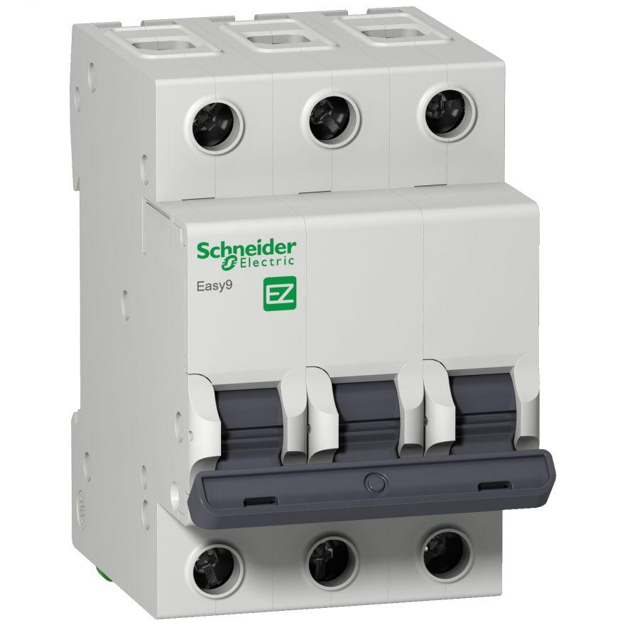 Schneider EASY 9 автоматический выкл. 3P 16А 4,5кА х-ка С 230В EZ9F34316