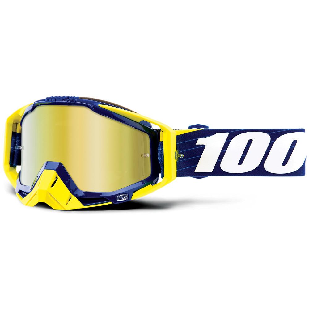 100% - Racecraft Bibal Navy Mirror Lens, очки, зеркальная линза