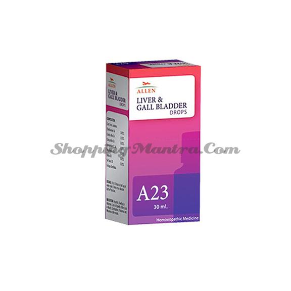 Капли Аллен А23 для печени и желчного пузыря | Allen Homeopathy A23 Liver Gall Bladder Drops