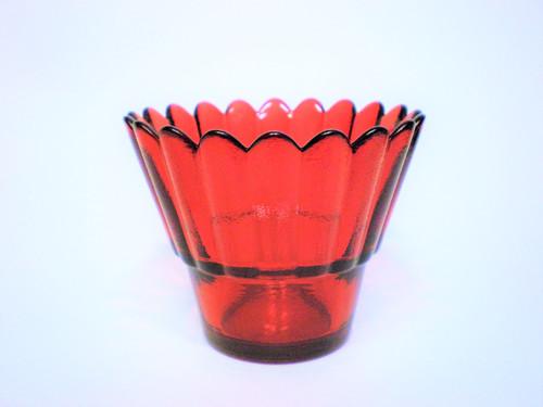 Стаканчик для лампады Волна (стекло, рифленый, цветной). В ассортименте