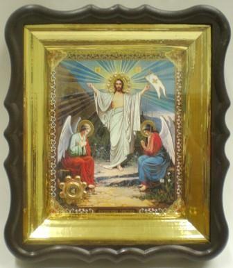 """Икона с частицей ладана - """"Воскресение Христово"""""""