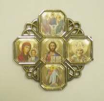 Икона-Крест автомобильный - 5 икон