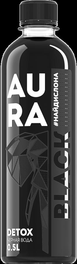 Вода чёрная «AURA BLACK» 0,5л