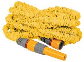 Шланг для полива HoZelock 8215 растягивающийся 15 м с коннекторами и наконечником для шланга