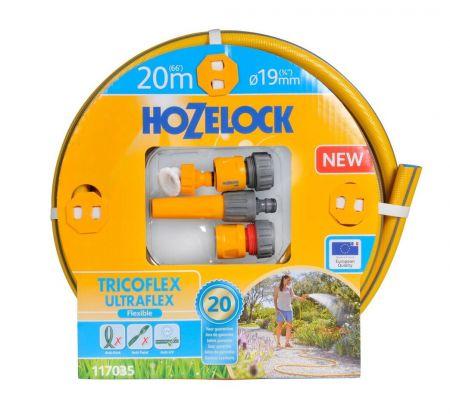 НАБОР ДЛЯ ПОЛИВА HoZelock TRICOFLEX ULTRAFLEX STARTER SET 19 мм 20 м