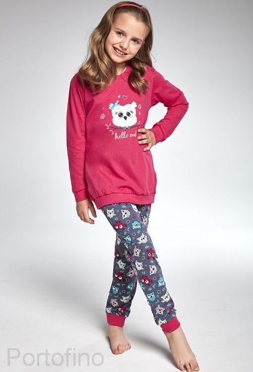 978-103 Пижама для девочек длинный рукав Cornette