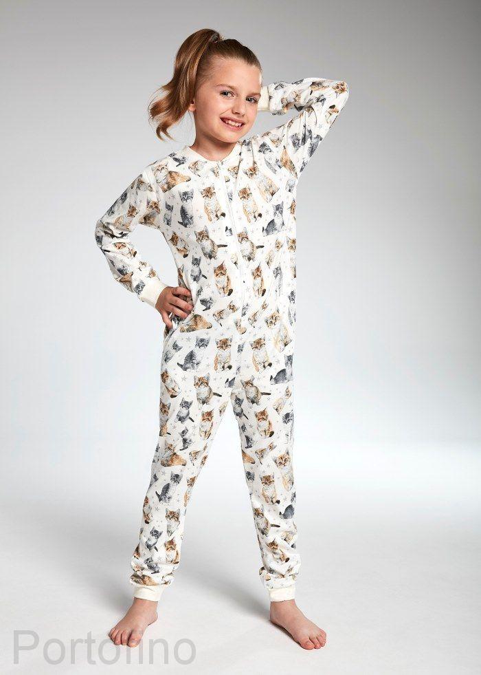 106-100 Пижама для девочек длинный рукав Cornette