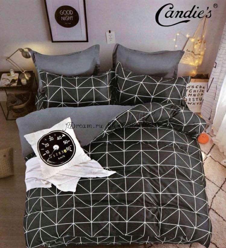 """Комплект постельного белья на резинке Candi`s """"Black line"""""""