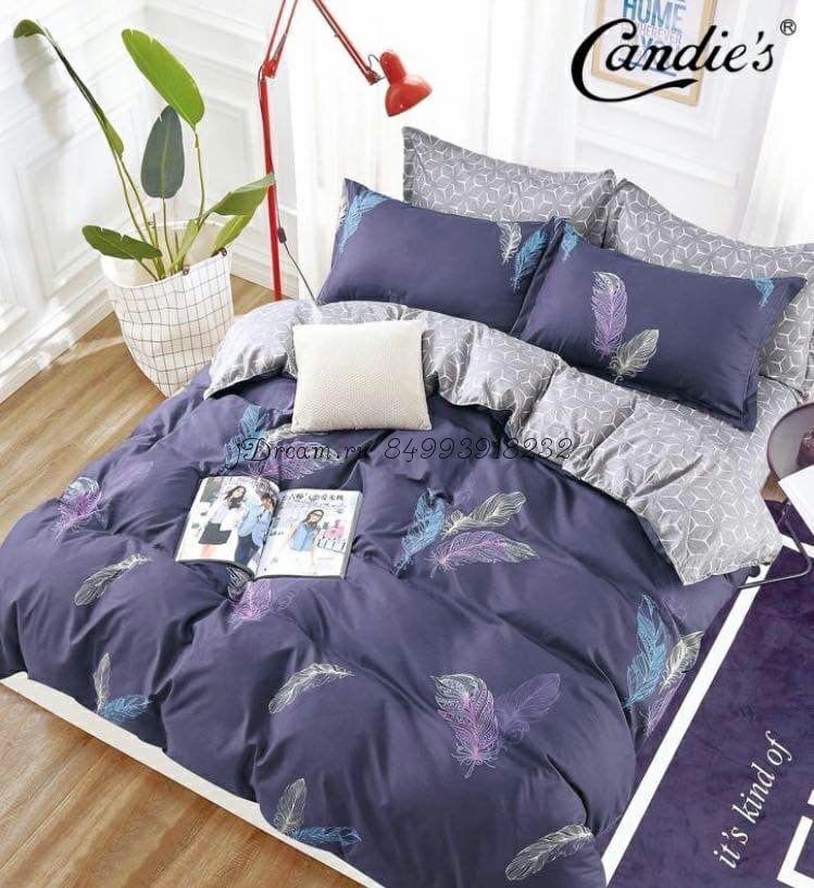 """Комплект постельного белья на резинке Candi`s """"Plumage"""""""