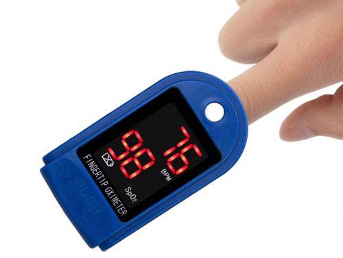 Пульсоксиметр на палец для измерений пульса и кислорода в крови Fingertip Pulse Oximeter