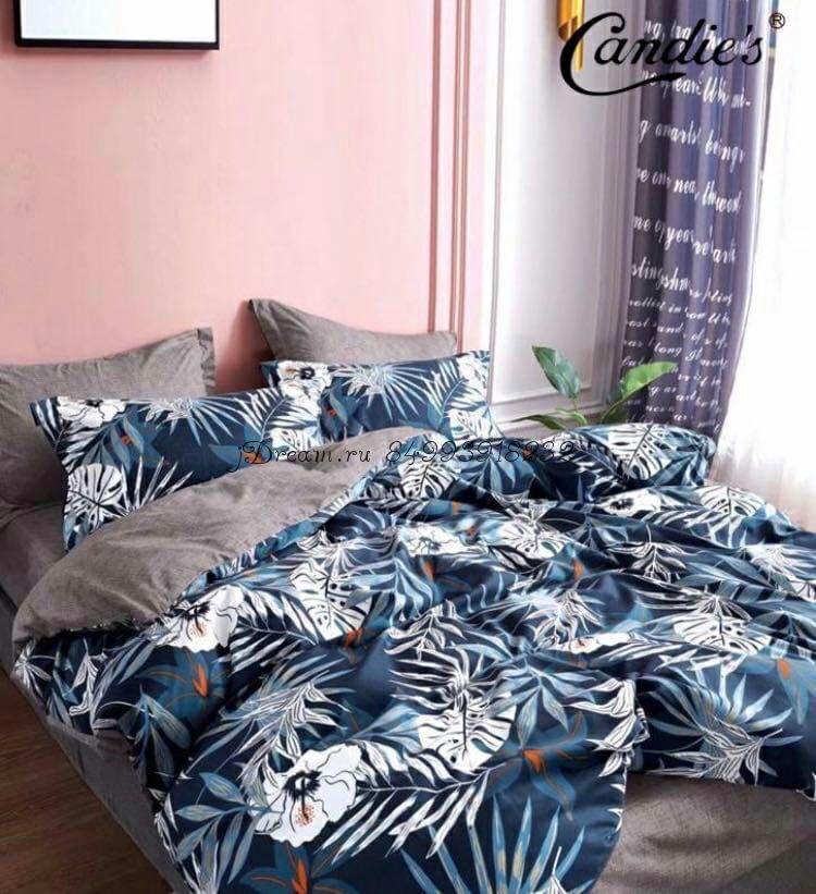 """Комплект постельного белья на резинке Candi`s """"Blue Nature"""""""