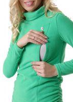 """Толстовка флисовая """"Пантера"""" для беременных и кормящих; цвет: зеленое яблоко"""