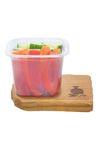 .Овощной микс Морковь, огурец, перец красный 160г