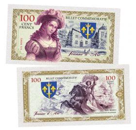 100 Cent FRANCS (франков) - Жанна Д'арк. Франция (Jeanne d'Arc. France). Памятная банкнота