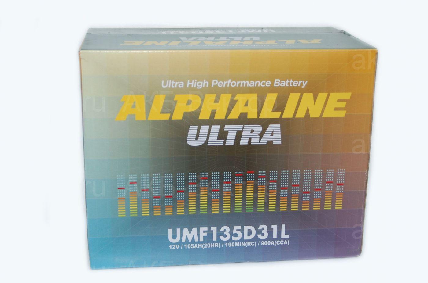 Alphaline Ultra 105Ач 900А(CCA) 135D31(L/R)