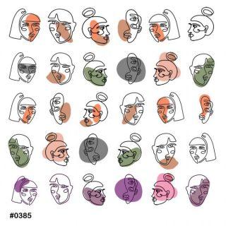 Слайдер-дизайн для ногтей № 0385