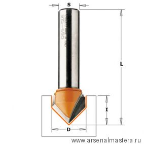 CMT 915.317.11 Фреза пазовая c углом 90гр. S=8 D=31,7x16
