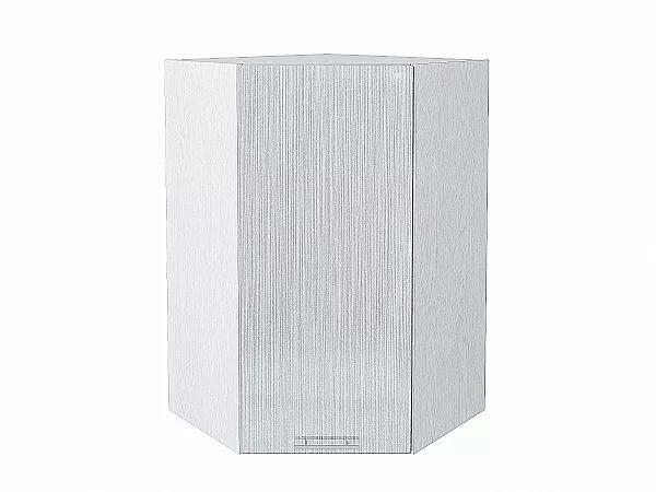 Шкаф верхний угловой Валерия ВУ599 (серый металлик дождь)