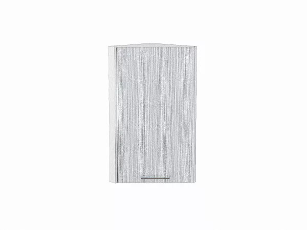 Шкаф верхний торцевой Валерия ВТ230 (серый металлик дождь)