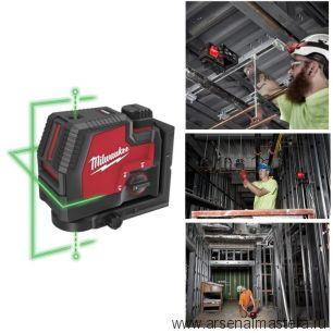 Аккумуляторный линейный лазерный нивелир с 2 точками L4 CLLP-301C Milwaukee 4933478099