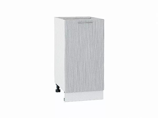 Шкаф нижний Валерия Н400 (серый металлик дождь)