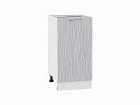Шкаф нижний с 1-ой дверцей Валерия Н400 в цвете серый металлик дождь