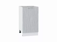 Шкаф нижний с 1-ой дверцей Валерия Н450 в цвете серый металлик дождь