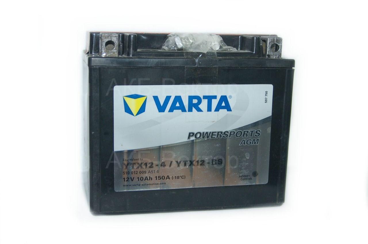 Varta Powersports  AGM 10Ач 150А(CCA) YTX12-BS