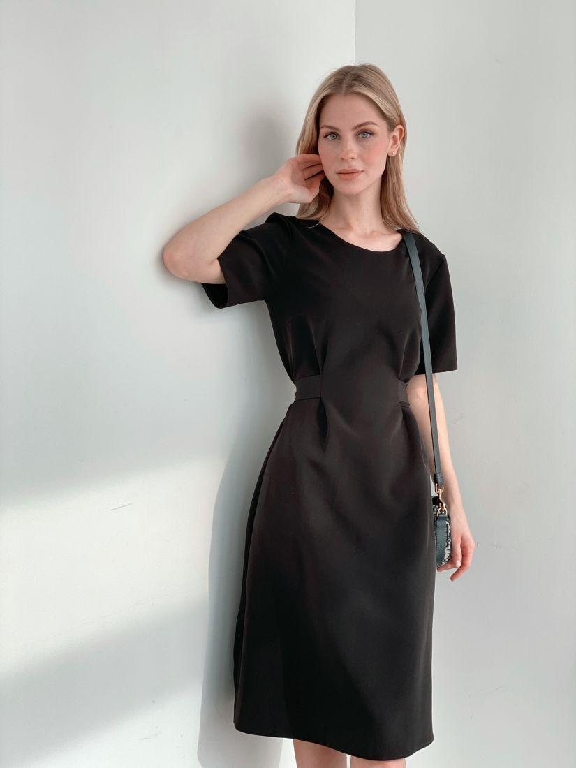 s3917 Платье-футляр чёрное