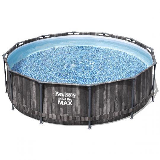Каркасный бассейн Bestway Wood Style 5614X (366х100 см) с кар. фильтром и лестницей