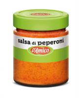 Сальса из перца 130 г, Salsa di peperoni D'Amico, 130 gr