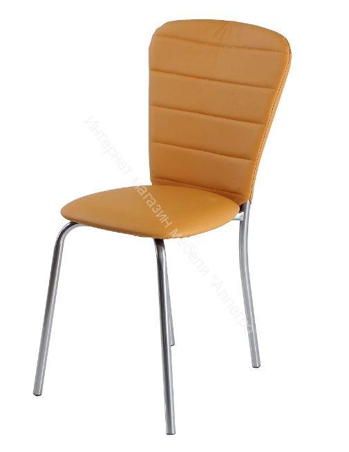"""Кухонный стул """"В-2"""" Оранжевый 3032/Хром"""