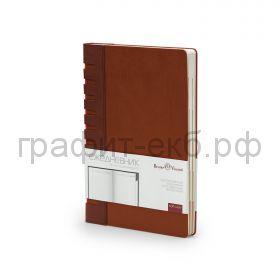 Ежедневник А5 недат.BrunoVisconti BERGAMO коричневый с индексами 272 стр. 3-545/06