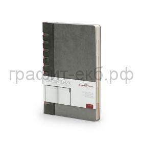 Ежедневник А5 недат.BrunoVisconti BERGAMO серый с индексами 272 стр. 3-545/01