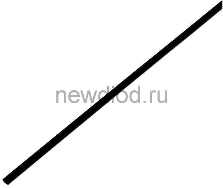 Термоусадочная трубка 4,0/2,0 мм, черная, упаковка 50 шт. по 1 м PROconnect