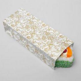 Пакет 3-х слойн.,кружева-золото, 8 х 5 х 20,5 см