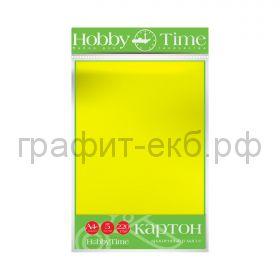 Картон цв.А4 220гр/м2 крашенный в массе желтый Альт HobbyTime 2-063/02