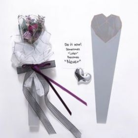 Конус для цветов, серый, 60 х 15 см