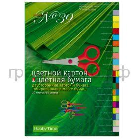 Бумага цв. +картон А4 30л.50цв. Альт 11-430-71