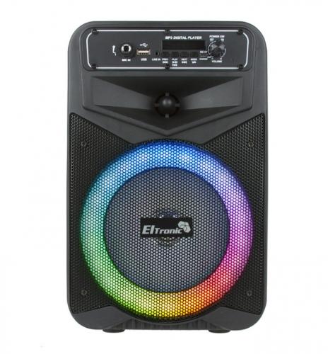 Портативная акустическая караоке колонка ELTRONIC с TWS 20-27 CRAZY BOX с микрофоном и подсветкой