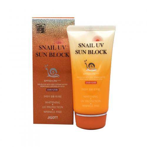 280979 JIGOTT Солнцезащитный крем с улиточным муцином Snail Uv Sun Block Cream v