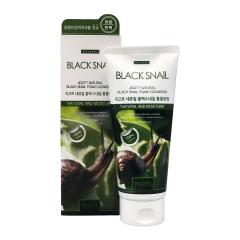 281532 JIGOTT Очищающая пенка с муцином черной улитки Natural Black Snail Foam Cleansing
