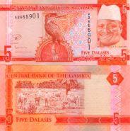 Гамбия - 5 Даласи 2015 UNC